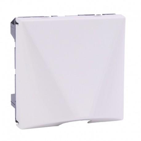Legrand - Sortie de câble avec serre-câble Mosaic - Blanc - 2 modules - Réf : 099644