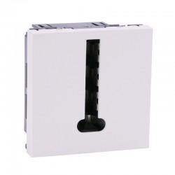 Legrand - Prise téléphone Mosaic - 8 contacts - 2 modules - blanc - Réf : 099648