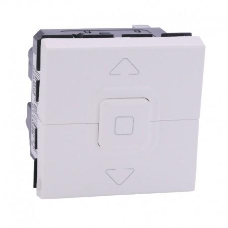 Legrand - Interrupteur individuel de volets roulants Mosaic - 2 modules - Blanc - Réf : 099656