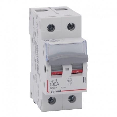 Legrand - Interrupteur-sectionneur DX³-IS - 2P 400 V~ - 100 A - 2 modules - Réf : 406449
