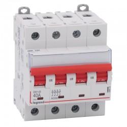Legrand - Interrupteur-sectionneur DX³-IS à déclenchement - 4P 400 V~ - 40 A - 4 modules - Réf: 406543
