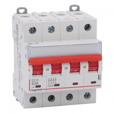 Legrand - Interrupteur-sectionneur DX³-IS à déclenchement - 4P 400 V~ - 63 A - 4 modules - Réf: 406544