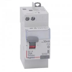 Legrand - Inter diff DX³-ID - vis/auto - 2P - 230V~ - 25A - type AC - 30 mA - départ haut - 2M - Réf : 411631