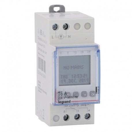 Legrand - Inter horaire programmable digital - auto - multifonction -1 sortie 16A - 250V - Réf : 412631