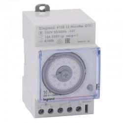 Legrand - Inter horaire prog analogique - cadran horiz - journalier - avec réserve marche - Réf : 412813