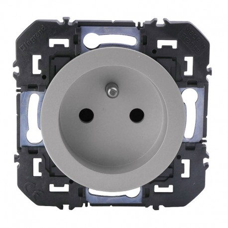 Legrand - Prise de courant 2P+T à puits dooxie 16A finition alu - Réf : 600437