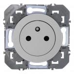 Legrand - Prise de courant 2P+T Surface dooxie 16A finition alu - Réf : 600435