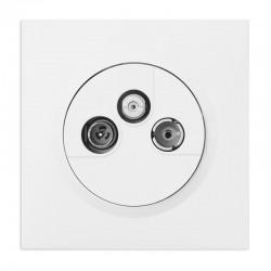 Legrand - Prise TV-R-SAT 1 câble dooxie one livré avec plaque carrée blanche et griffes - Réf : 600753