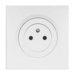 Legrand - Prise de courant 2P+T Surface dooxie 16A livrée avec plaque carrée blanche et griffes - Réf : 095015