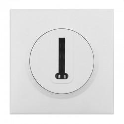 Legrand - Prise téléphone en T dooxie livrée avec plaque carrée blanche et griffes - Réf : 09501