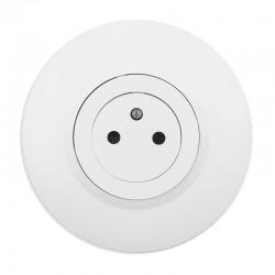 Legrand - Prise de courant 2P+T Surface dooxie 16A livrée avec plaque ronde blanche et griffes - Réf : 095055