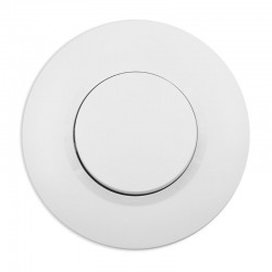 Legrand - Poussoir dooxie 6A 250V~ livré avec plaque ronde blanche et griffes - Réf : 09505
