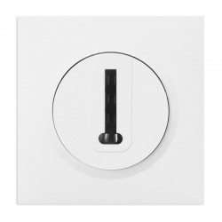 Legrand - Prise téléphone en T dooxie one livré avec plaque carrée blanche et griffes - Réf : 600768