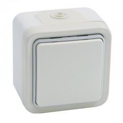 Legrand - Interrupteur ou va-et-vient Plexo complet apparent - Blanc - Réf : 069915