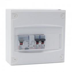 Legrand - Tableau électrique équipé et précâblé - 1 rangée 9 modules - Réf : 093060
