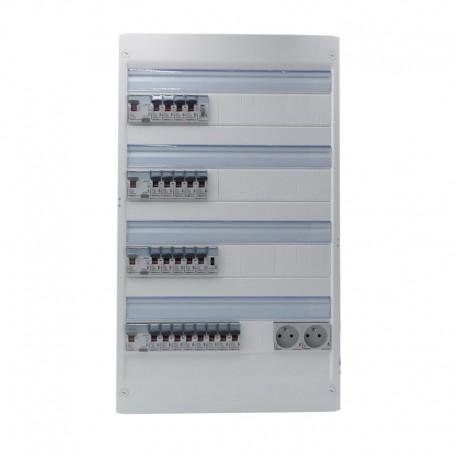 Legrand - Tableau Pré-câblé - Drivia 18 modules 4 Rangées - Réf: LEG18401