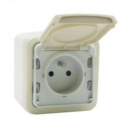Legrand - Prise de courant et volet de protection IP 55 Plexo complet apparent - Blanc - Réf : 069918