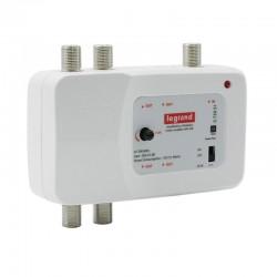 Legrand - Amplificateur télévision UHF et VHF 792MHz 1 entrée 4 sorties compatible TNT et télévision HD réf : 073951