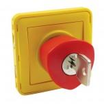 Legrand - Poussoir déverrouillage à clé Prog Plexo composable gris/jaune - Réf : 069548