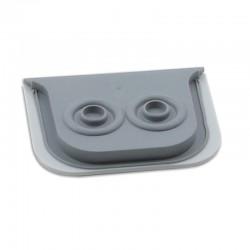 Legrand - Embout à membrane Prog Plexo - gris - 2 sorties - Ø jusqu'à 16 mm - Réf : 069599
