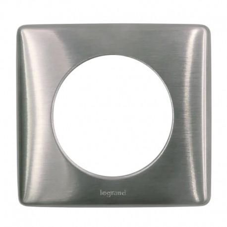 Legrand - Plaque Metal 1P Tungstene - Réf : 098853