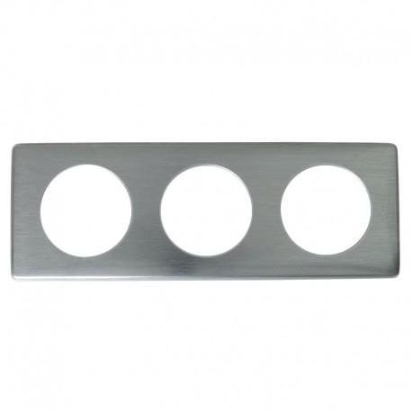 Legrand - Plaque Metal 3P Tungstene - Réf : 098893
