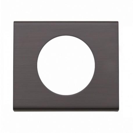 Legrand - Plaque Céliane - Matières - 1 poste - Black Nickel - Réf : 069031