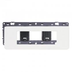 Legrand - Plaque avec support Mosaic - pour 6 modules montage horizontal - Blanc - Réf : 099676