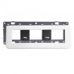 Legrand - Plaque avec support Mosaic - pour 8 modules montage horizontal - Blanc - Réf : 099678