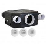 S&P Unelvent -Kit VMC hygro extra-plat 185 mm très basse conso - Réf : 604911