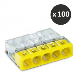 Wago - Bornes pour boîtes de dérivation COMPACT,5 conducteurs - réf : 2273-205(100)