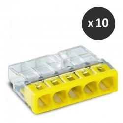 Wago - Bornes pour boîtes de dérivation COMPACT,5 conducteurs - réf : 2273-205(10)