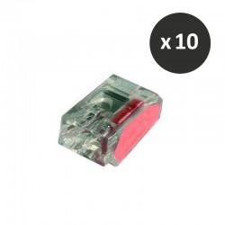 Cooper Capri - 10 Connecteurs - 2 entrées rouge - Réf : 309284(10)
