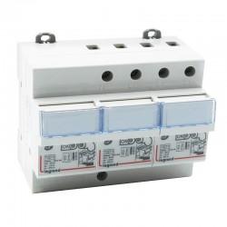 Legrand - Parafoudre pour protection tableau d'abonné avec protection intégrée type2 Imax 12kA/pôle - 3P+N - 6m - Réf : 003953