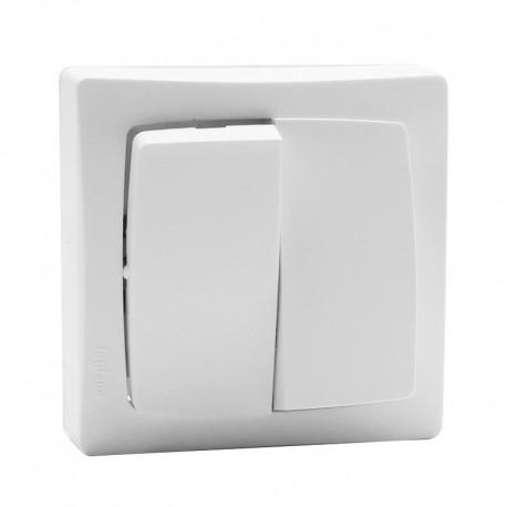 Legrand - Double va-et-vient appareillage saillie complet - blanc - Réf: 086020