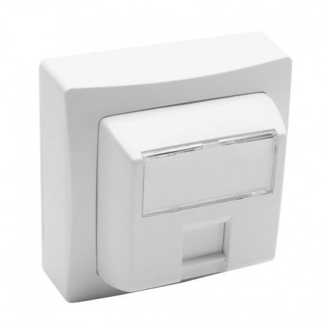 Legrand - Prise RJ45 catégorie5e FTP 9 contacts Appareillage saillie complet - blanc - Réf: 086061