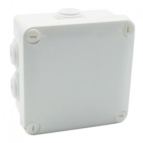 Legrand Plexo - Bte carrée 105x105x55 étanche blanc - embout (7) -IP55/IK07- 650°C - Réf : 092023