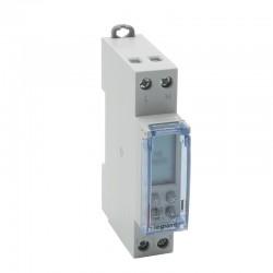 Legrand - Inter horaire modulaire programmable journalier et hebdomadaire standard 230V~ 1 sortie 16A - 1 m - Réf : 412681