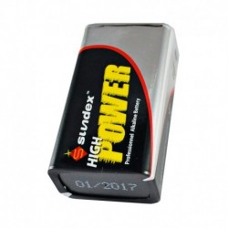 Sundex -Piles LR61 9V - Super alcalines 10-120 - Réf : 4105