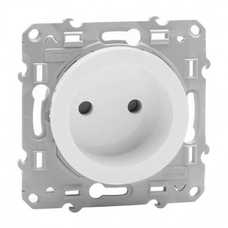 Schneider Odace - Prise de courant 2P - Blanc - Réf : S520033