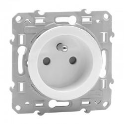 Schneider Odace - Prise de courant 2P+T - Blanc - Réf : S520059
