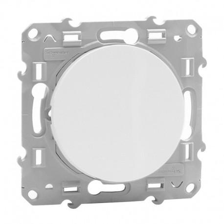 Schneider Odace - Interrupteur Va et Vient - Blanc - Réf : S520204