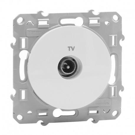 Schneider Odace - Prise TV - Blanc - Réf : S520445
