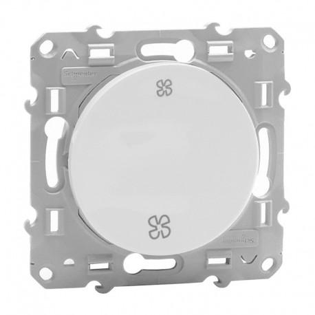 Schneider Odace - Interrupteur de VMC - Blanc - 2 Vitesses - Réf : S520233
