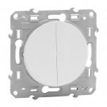 Schneider Odace - Interrupteur Va et vient Lumineux + Interrupteur Va et Vient - Blanc - Réf : S520273