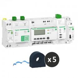 Schneider - Wiser Energy - kit contrôle avec contacteur connecté - pour tableaux Resi9 - Réf : TEC1ECLR