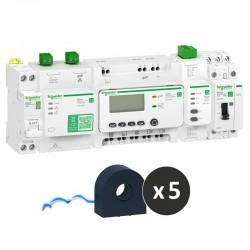 Schneider - Wiser Energy - kit contrôle avec contacteur connecté - pour tableaux Resi9 - Réf : TEC1CTRL