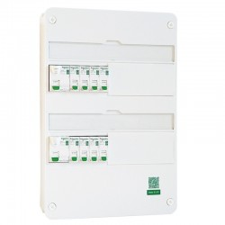 Schneider - Tableau Pré-câblé - Rési9 - 13 modules 2 Rangées - XE AUTO - Réf: SCH13202