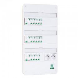Schneider - Tableau Pré-câblé - Rési9 - 13 modules 3 Rangées - XE AUTO - Réf: SCH13312