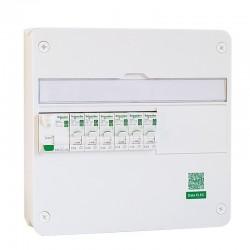 Schneider - Tableau Pré-câblé - Rési9 - 13 modules - 1 Rangée - XE - Réf: SCH13102